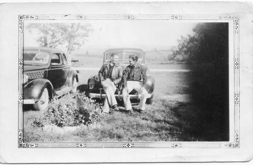 Carl Dean Rudd and friend (Abt. 1939)