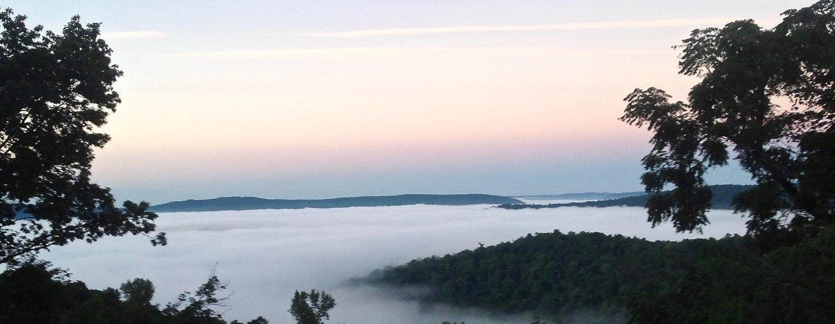 Fog Covers Boxley Valley